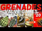 Evolution of Grenades in Valve Games
