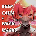 Stay home x mask x animation girl =?