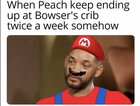 Sad reacts for Mario