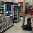 This homeless man seen casually playing Xbox at Target